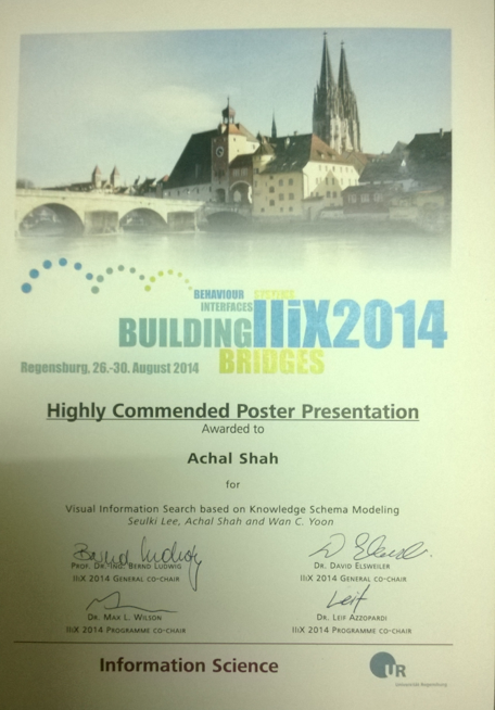 Highly Commended Poster Presentation Award